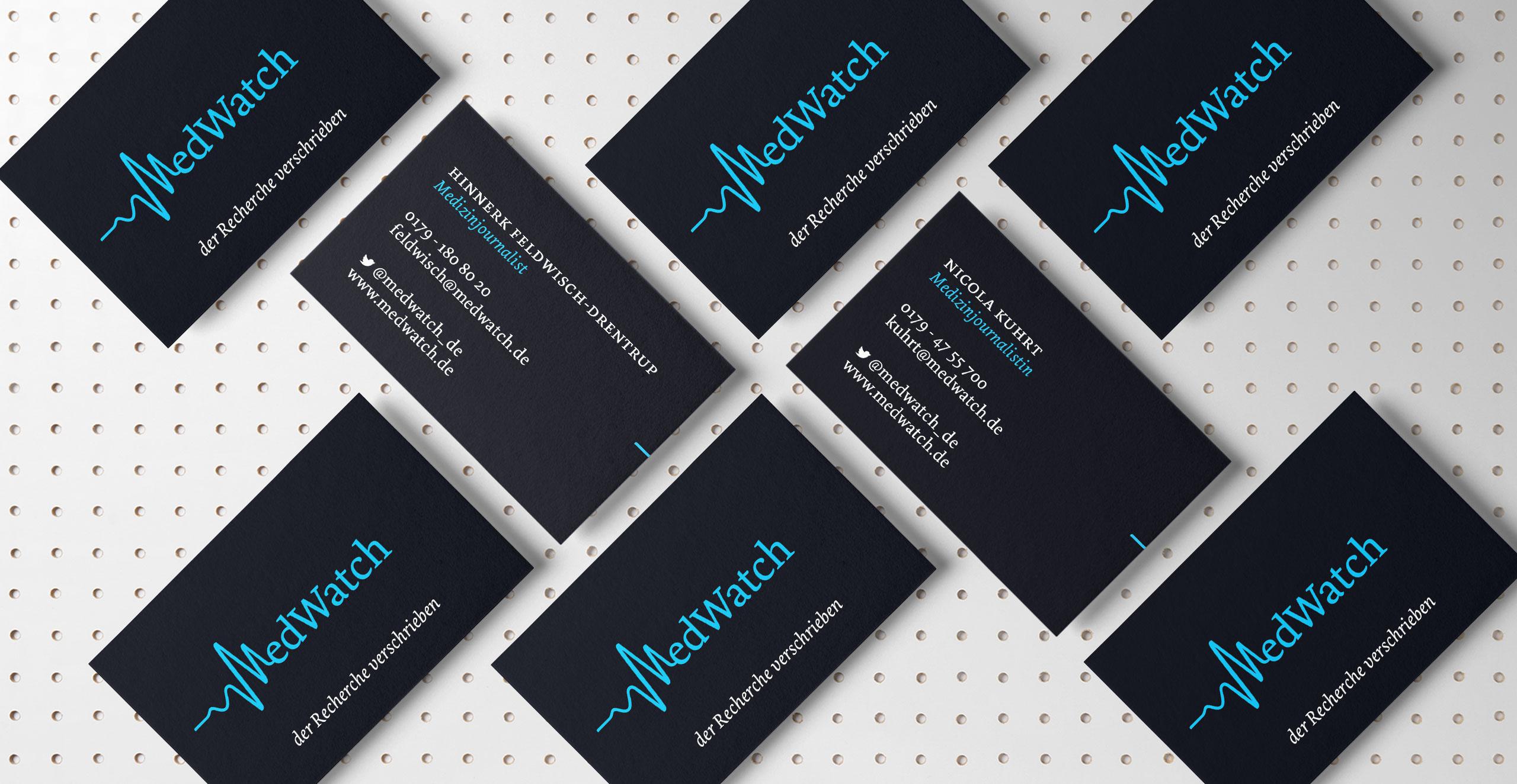medwatch-Visitenkarten